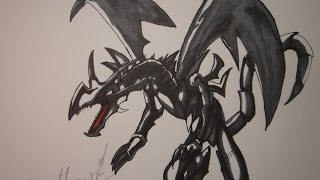 red eyes black dragon drawing lesson