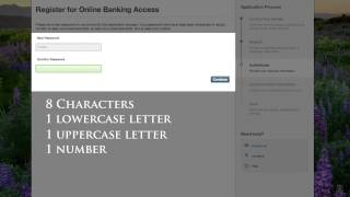 first time online banking registration tutorial
