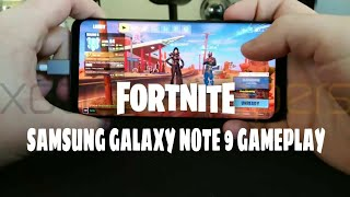 Fortnite Android on Samsung galaxy Note 9 gameplay leaked by xda developers