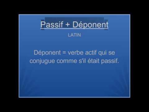 Latin Conjugaison Passif Et Deponent Youtube