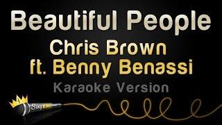 chris brown ft benny benassi beautiful people karaoke version