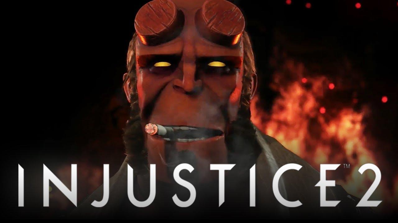 Injustice 2 Official Hellboy Black Manta Amp Raiden Reveal Trailer Injustice 2 Fighter Pack 2 Dlc Youtube Black Manta Injustice 2 Injustice