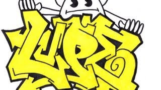 How to Draw Graffiti Name - (LUPE) requested - como dibujar Lupe en graffiti
