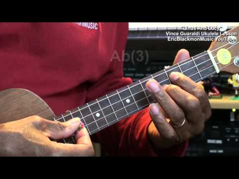 🎄 How To Play LINUS AND LUCY On Ukulele Charlie Brown Peanuts Christmas Lesson HD