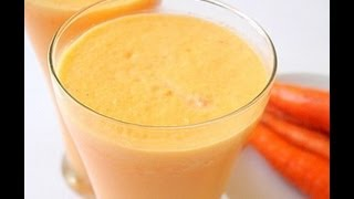 Recipe - Carrots & Nuts Milkshake Recipe With English Subtitles