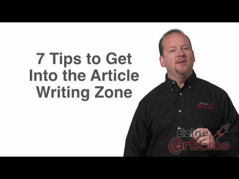 7 Tips to Get Into the Article Writing Zone