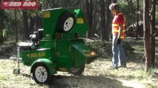 Red Roo: Hire a Chipper Mulcher Shredder - Demonstration