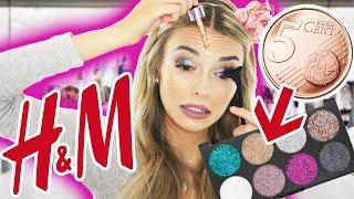 Ich schminke mit BILLIGSTEM H&M MAKE UP ab 0,99€ 😱 KATASTROPHE? | XLAETA