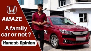 New HONDA AMAZE real life review : क्या FAMILY कार है नयी AMAZE ?