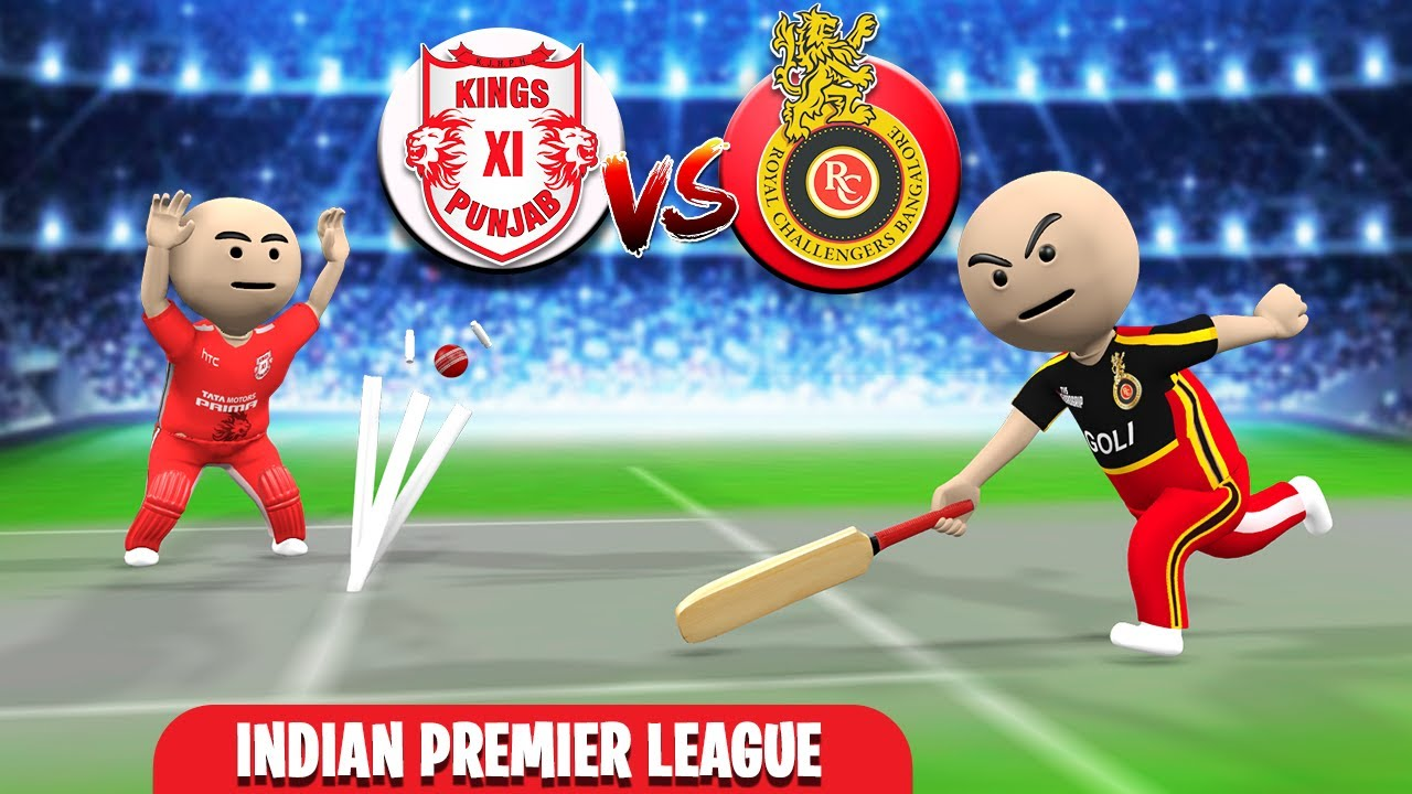 3D ANIM COMEDY - CRICKET IPL 2020 - RCB VS KXIP || LAST OVER