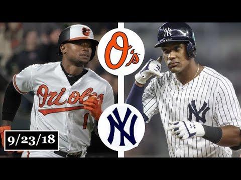 Baltimore Orioles vs New York Yankees Highlights || September 23, 2018