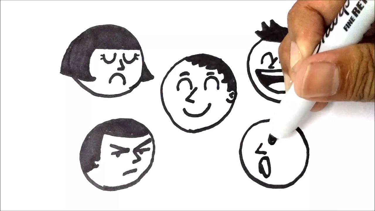 Cara Menggambar Ekspresi Wajah How To Draw Facial Expressions