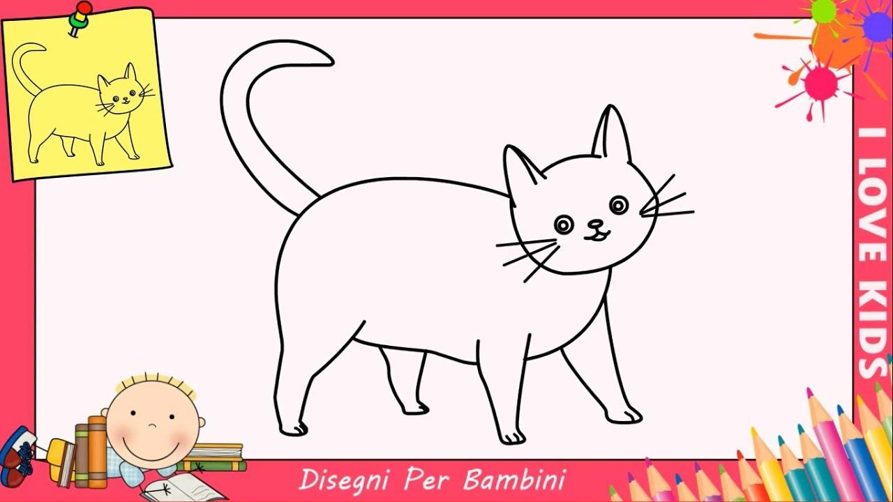 Come Disegnare Un Gatto Facile Passo Per Passo Per Bambini 7 Youtube