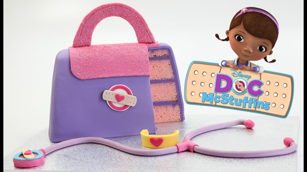 How To Make A Disney Doc Mcstuffins Cake Youtube