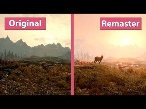 Skyrim – Special Edition Remaster vs. Original on PC Trailer Graphics Comparison