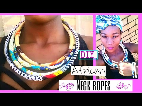 How-to DIY African rope Necklace/bangles. EASY NO-SEW