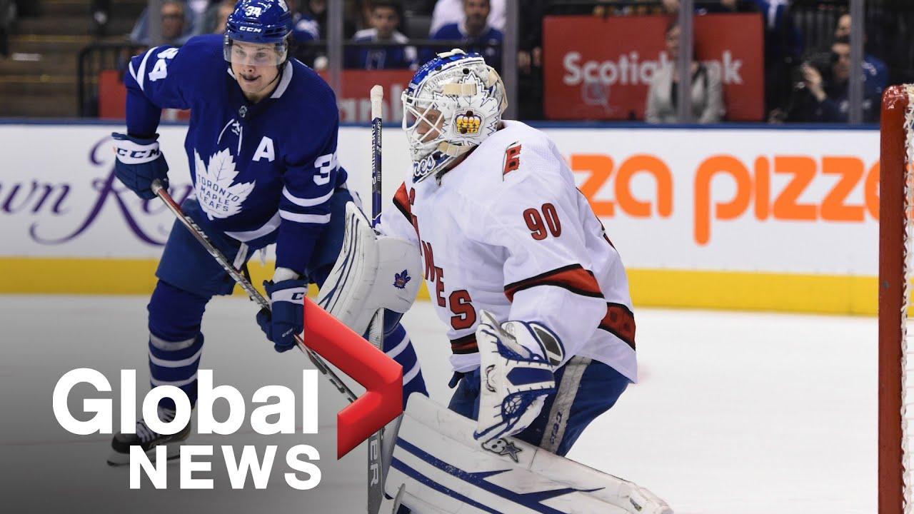 Zamboni driver wins NHL debut as Hurricanes' emergency goalie: I ...