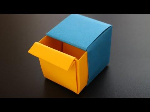 basteln-mit-papier:-'origami-schublade'-für-diy-desk-organizer-&-geschenk-[w+]