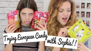 Trying European Candy with Sophie Clough! | BeautySpectrum