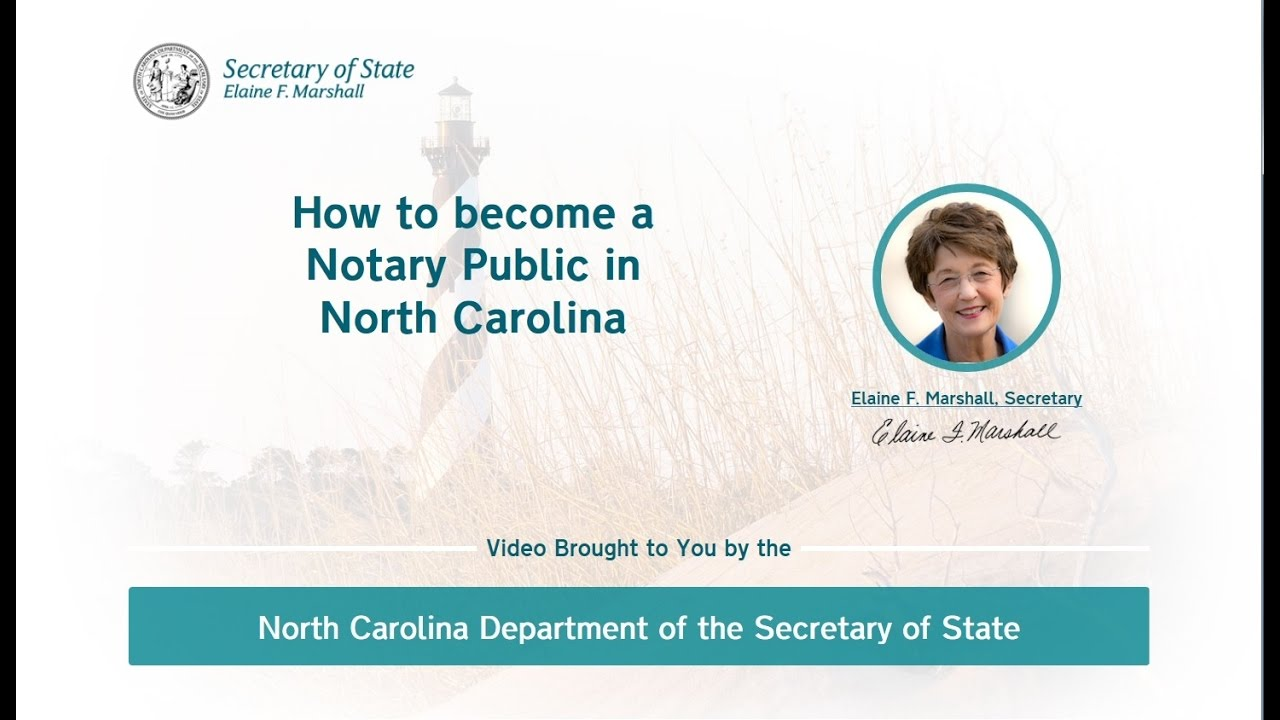How To Become A Notary Public In North Carolina