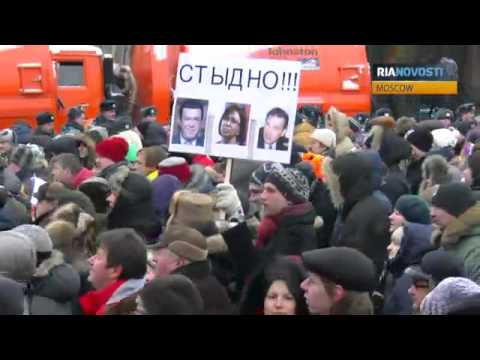 Thousands Protest Anti-US Adoption Law in Moscow