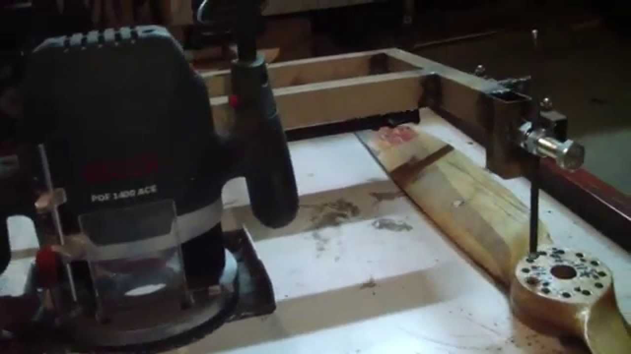 Homemade Propeller Carving Router Duplicator Copy Kopiarka