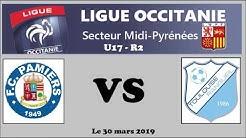 U17-R2 -Pamiers FC contre Tlse Rangueil FC
