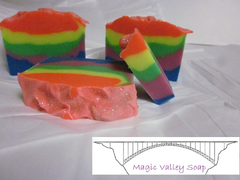 The Making of Rainbow Burst of Energy Soap