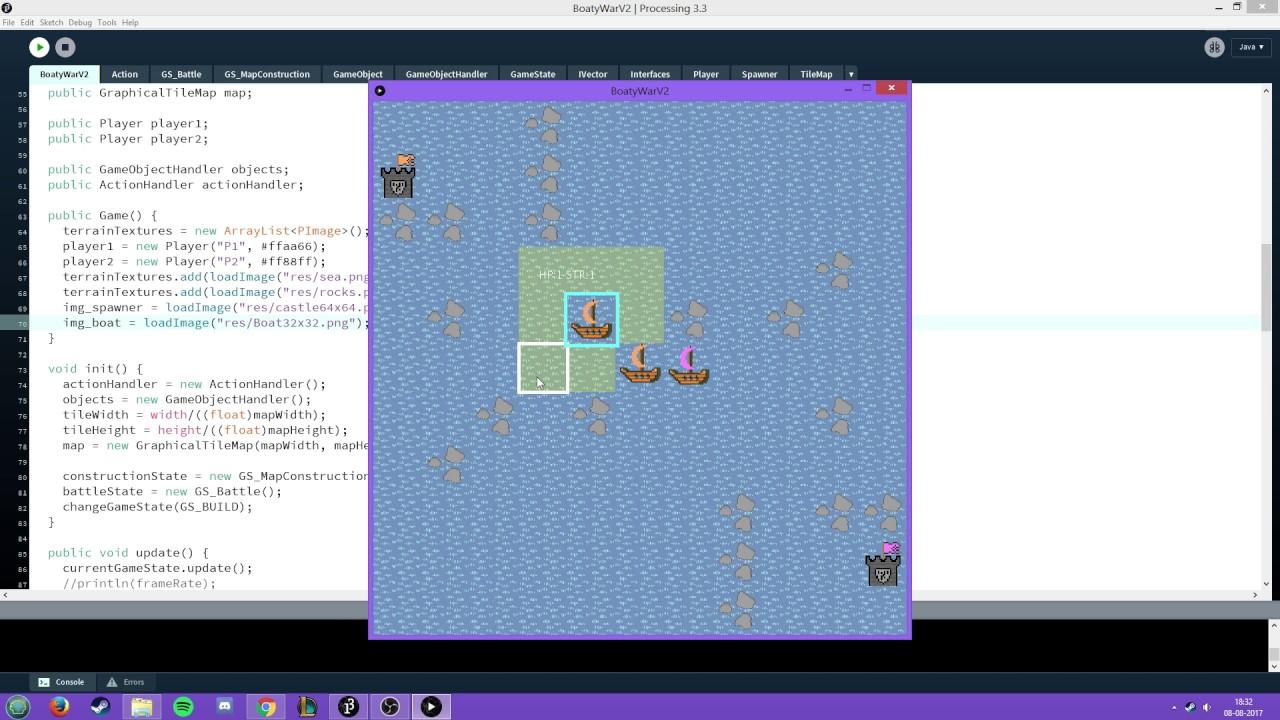 Tile-based Turn-based Game - Processing