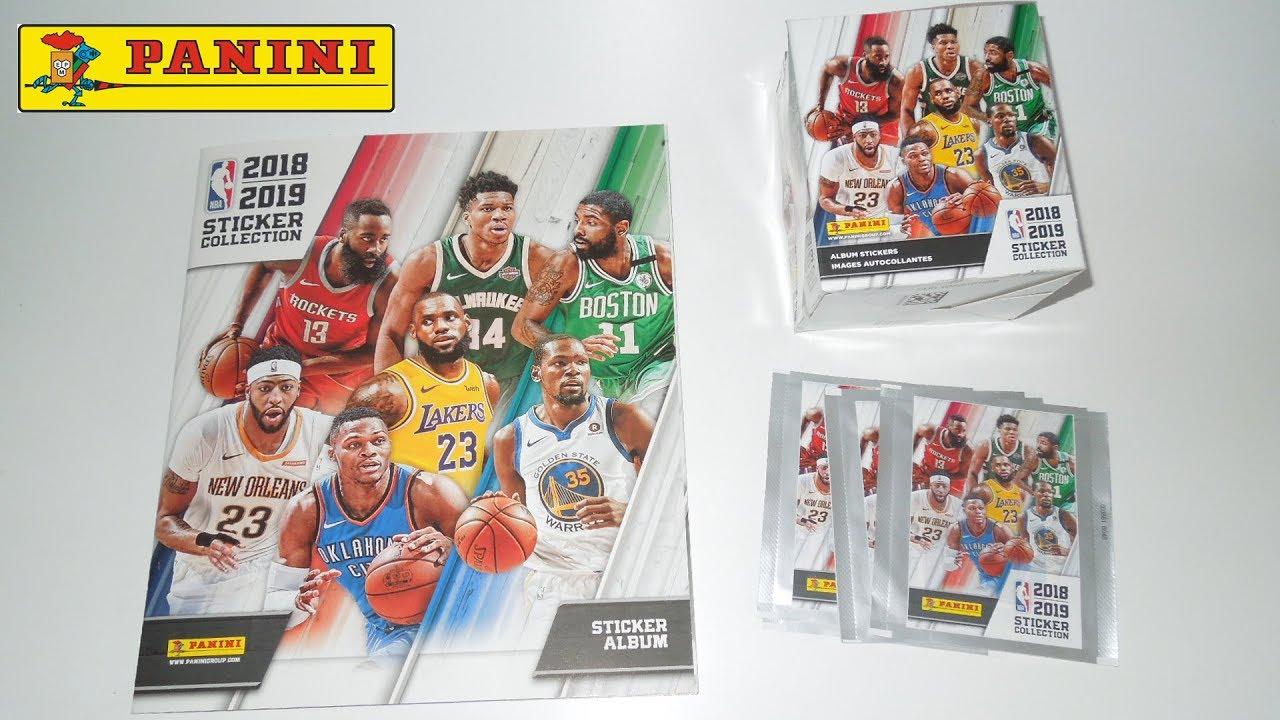 NBA 2018//2019 Autocollant Collection Starter Pack de Basket Américain stickers album