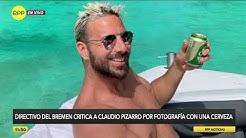 Claudio Pizarro recibió dura crítica de Werder Bremen por posar con una lata de cerveza