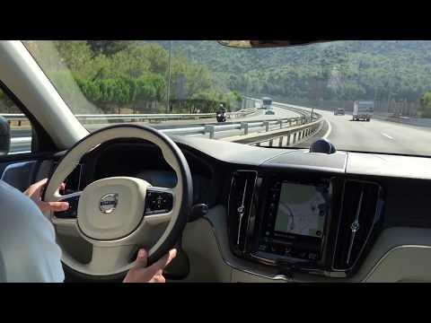 Volvo XC 60 D5 2017 POV Drive in Barcelona AUTONOMOUS DRIVING