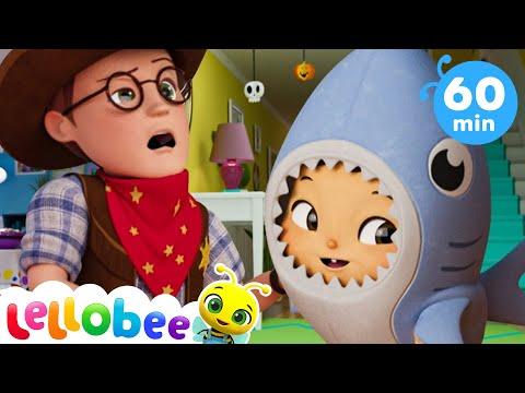 Halloween Baby Shark Dance +More Nursery Rhymes And Kids Songs | ABC's \u0026 123's | Little Baby Bum