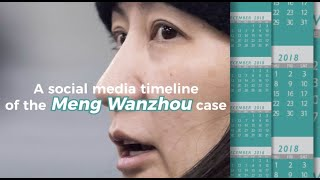 A social media timeline of the Meng Wanzhou case