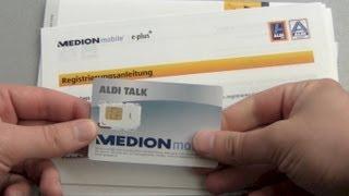 ALDI Talk SIM Karte Starterset Unboxing