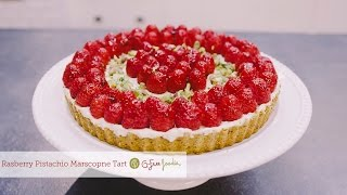 Raspberry Mascarpone Tart With Pistachio Crust - So Delish!