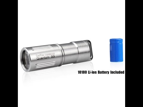 5b22d75621c Cooyoo Quantum SS review and test (english) worlds smallest brightest  flashlight!