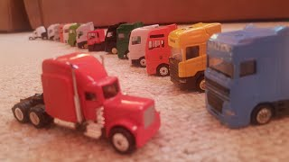 Driving toy Trucks for Children MAN, DAF, Iveco, Sami, Volvo, Scania Video for Kids