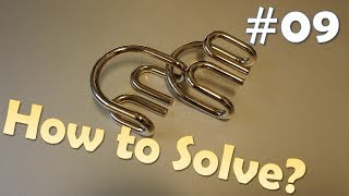 "Can you solve this brain teaser? Metal puzzle solution - Part 9 - Double ""U"" Shape"
