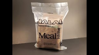 2019 US Meal Halal Individual MRE Review Saag Chole with Lamb Ration Taste Testing