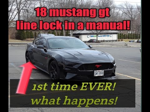 Line-Lock In My MANUAL 18 Mustang GT, 1ST TIME, OMG!!!!!