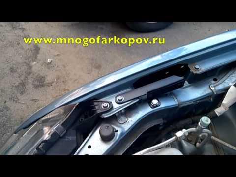 Амортизатор (упор) капота на Mitsubishi Lancer KU-MI-LA10-00 (обзор,установка) - Видео на ютубе