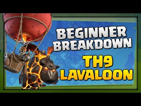 Beginner Breakdown of TH9 Lavaloon Expert Attacks | Clash of Clans Strategy Explained!