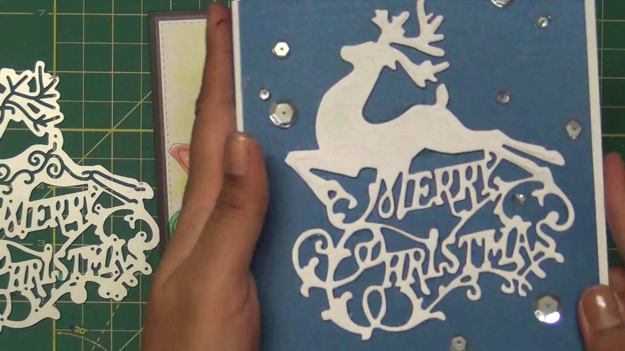 DIE CUT TECHNIQUE- CHRISTMAS REINDEER CARD - YouTube