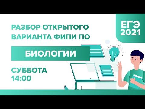 Разбор открытого варианта ФИПИ по Биологии ЕГЭ - 2021 | УМНИКУМ