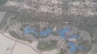 Wild Wadi Aqua Park seen from Burj Al Arab Hotel in Dubai 24.11.2016