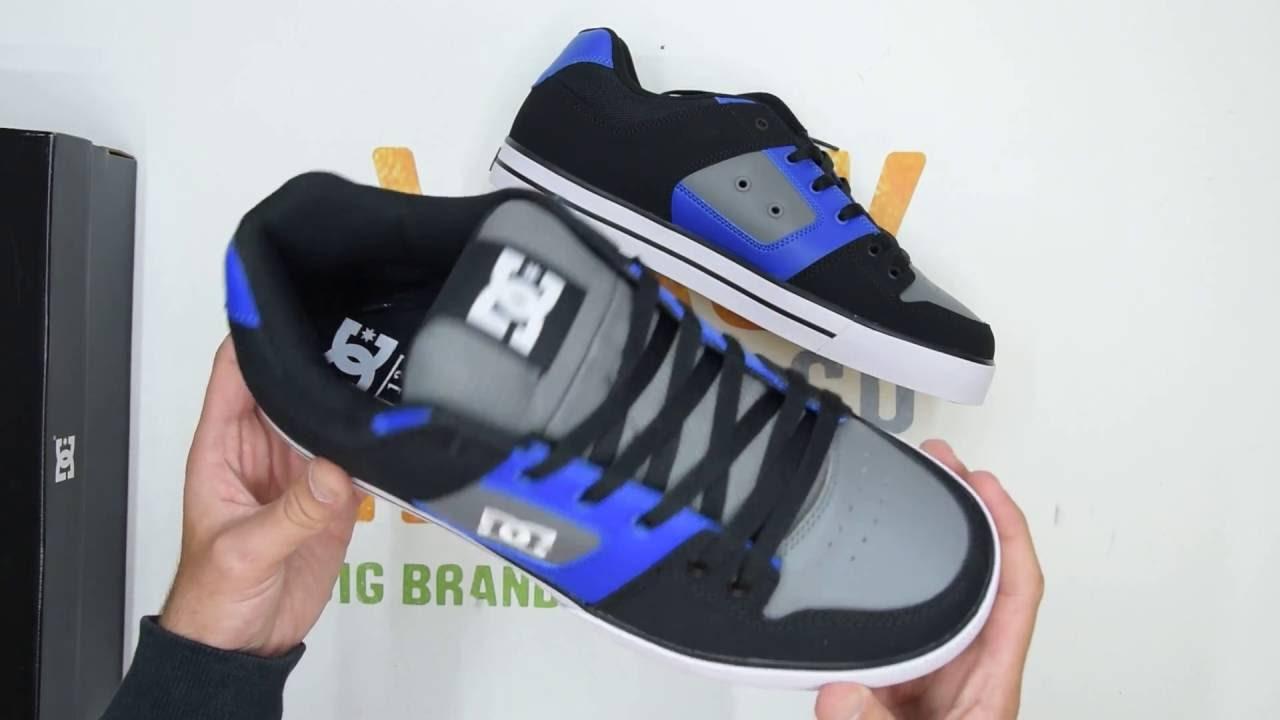660946c671 DC Shoes Pure - Blue Black Grey - Walktall