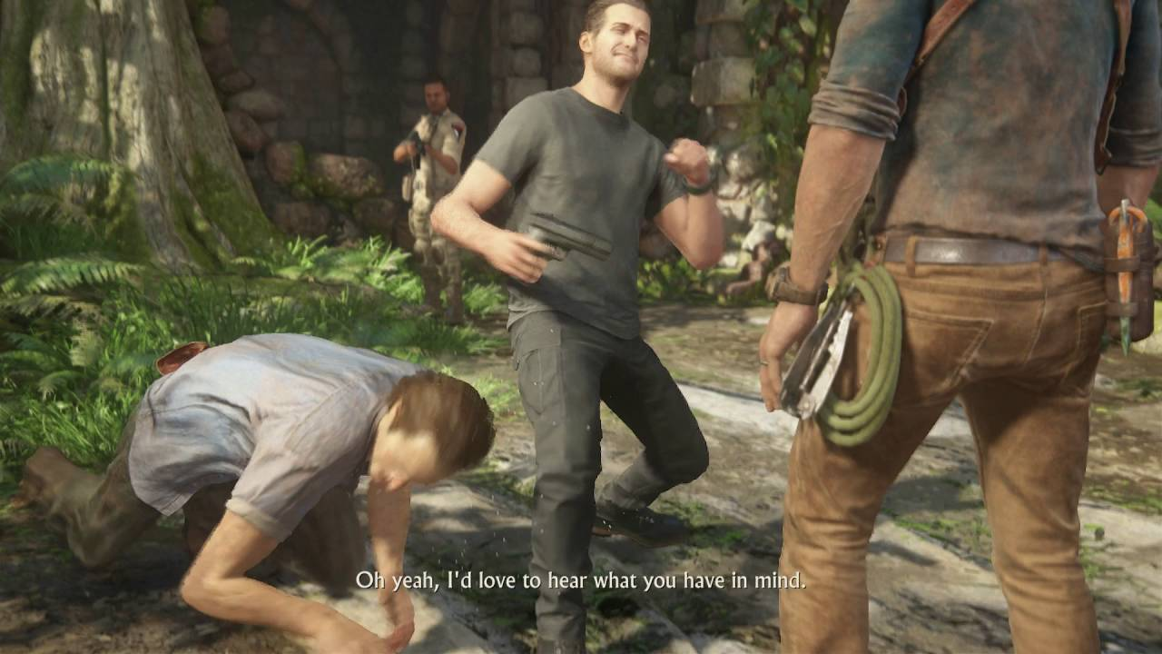 Uncharted 4: A Thief's End - Chap 15: Rafe ''I'm the One Who Got Samuel  Out'' Sam Lied Cutscene - YouTube