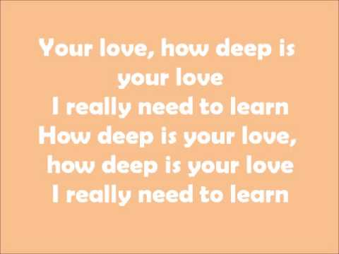 How Deep Is Your Love  Cameron Mitchell Cast  Lyrics