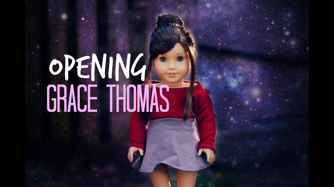 opening american girl doll grace thomas youtube